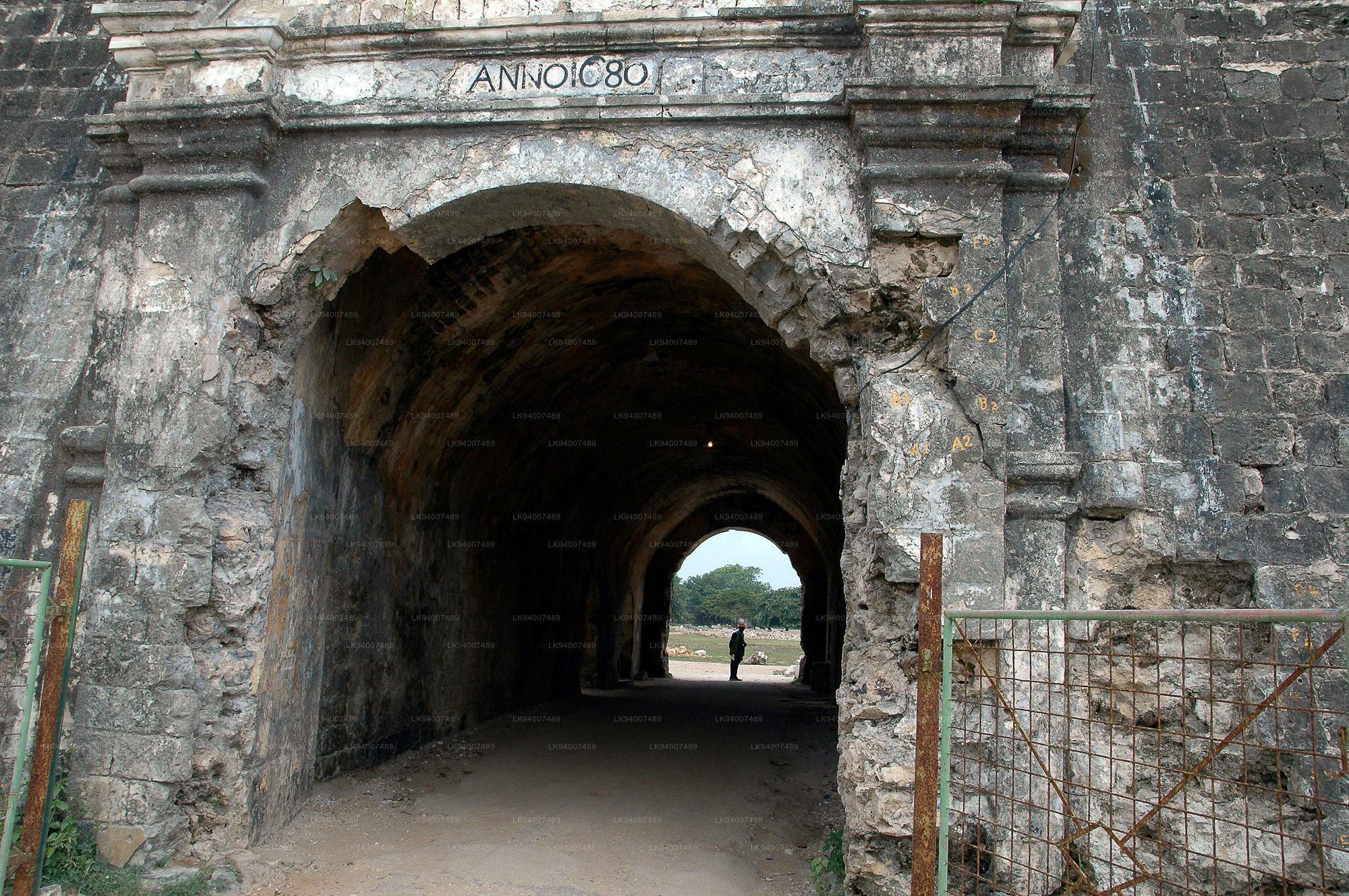 Galle ancient Dutch fort old gate